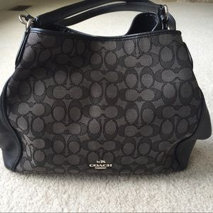 Coach Black Signature C Shoulder Bag